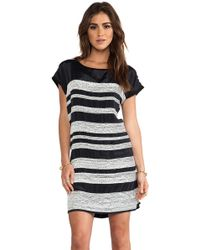 Dolan Mini Sequin Stripe Dress - Lyst