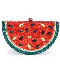 Natasha Couture 'Watermelon' Crystal Clutch - Lyst