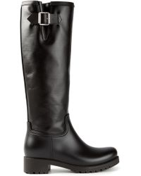 Mm6 By Maison Martin Margiela Buckled Biker Boots - Lyst