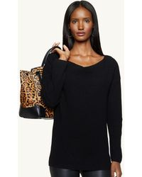 Ralph Lauren Black Label Cashmere Thermal Sweater - Lyst