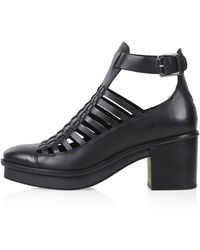 Topshop Mishap Weave Boots - Lyst