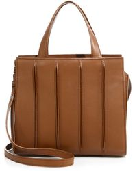 Max Mara Whitney Small Leather Tote - Lyst