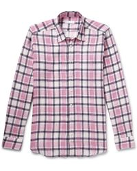Etro Checked Linen Shirt - Lyst