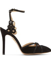 Charlotte Olympia Black Celtic Knot Minx Heels - Lyst