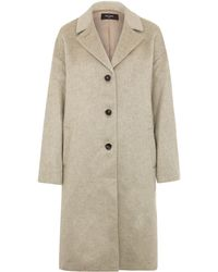 Paul Smith Black Label Cream Mohair-blend Duster Coat