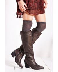 Jeffrey Campbell Torrent Distressed Tall Boot - Lyst