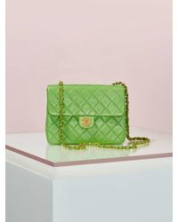Chanel | Vintage Quilted Green Leather Bag | Lyst
