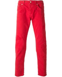 Dondup Cropped Slim Fit Jeans - Lyst