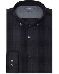 Calvin Klein X Extra-slim-fit Eclipse Checked Dress Shirt - Lyst