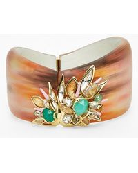 Alexis Bittar 'Lucite' Asymmetrical Bracelet - Marbled Peach - Lyst