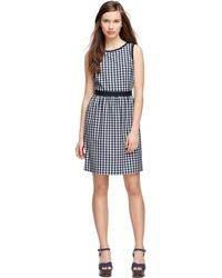 Brooks Brothers Gingham Sleeveless Dress - Lyst