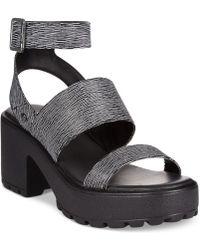 G by Guess Women'S Gadri Platform Lug Sandals - Lyst