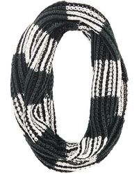 BCBGMAXAZRIA Color-blocked Striped Infinity Scarf - Lyst