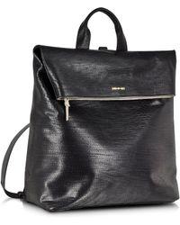 McQ - Black Embossed Leather Knapsack - Lyst