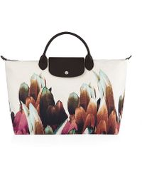 Longchamp Tribu Toile Large Handbag - Lyst