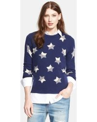 Equipment 'Sloan' Star Pattern Cashmere Pullover - Lyst
