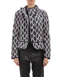 Isabel Marant Print Quilted Olaz Jacket - Lyst
