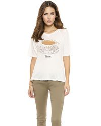 Wildfox Tea Time Tee  Vintage Lace - Lyst