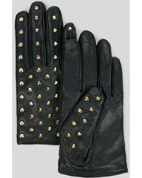 Ted Baker Shana Studded Biker Leather Gloves - Lyst