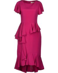 Marchesa Kneelength Dress - Lyst