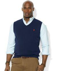 Ralph Lauren Vneck Merino Wool Sweater Vest - Lyst