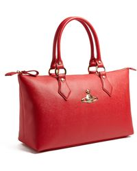 Vivienne Westwood Red Divina Faux Leather Orb Tote Bag - Lyst