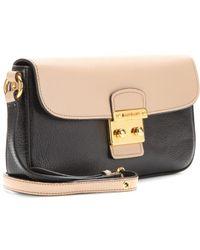 Miu Miu Twotone Leather Shoulder Bag - Lyst