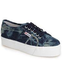 Superga Tie Dye Platform Sneaker - Lyst