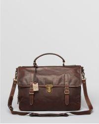 Frye - Logan Leather Buckle Briefcase - Lyst