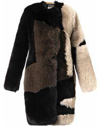 Preen Ellen Patchwork Fur Coat - Lyst