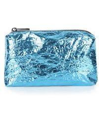 Topshop Metallic Foil Make-Up Bag blue - Lyst
