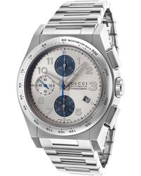 Gucci Men'S Pantheon Automatic Chronograph Stainless Steel Silver-Tone Dial - Lyst