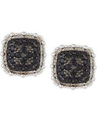 Judith Ripka - Rapture Black Sapphire Stud Earrings - Lyst