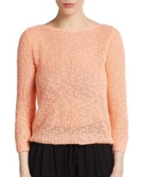 C&C California Knit Boatneck Sweater - Lyst