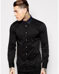 Diesel Shirt S-Kinsp-Dp Slim Fit Denim Bib - Lyst