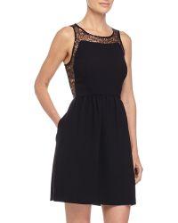 Jill Jill Stuart Sequined Lace Fit-And-Flare Dress - Lyst