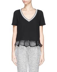 Elizabeth And James 'New Tierney' Organza Ruffle Hem Top - Lyst
