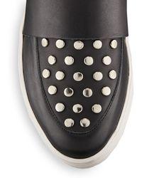 Loeffler Randall Irini Studded Leather Slip-On Sneakers - Lyst