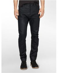 Calvin Klein Tapered Deep Glaze Dark Wash Jeans - Lyst