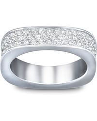Swarovski Vio Crystal And Silver-Tone Ring Size 7 - Lyst
