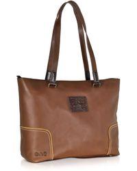 La Martina - Mirada Cognac Leather Shopping Bag - Lyst