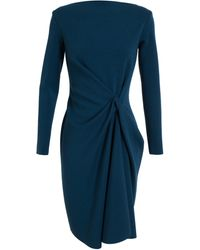 Lanvin Tuck Front Wool Dress - Lyst