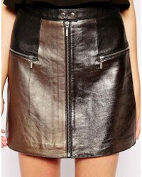 Dress Gallery - Mini Leather Skirt - Lyst