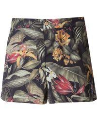 AMI Jungle-Print Swim Shorts - Lyst