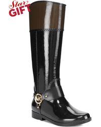 Michael Kors Michael Fulton Harness Rain Boots - Lyst