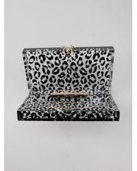 Charlotte Olympia 'Leopard Pandora' Clutch - Lyst