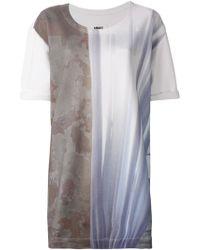 MM6 by Maison Martin Margiela Abstract Print Long T-Shirt - Lyst