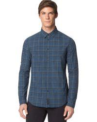 Calvin Klein Jeans Modern Fit Plaid Sportshirt - Lyst