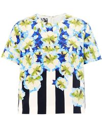 Mother Of Pearl Uno Printed Silk Crepe De Chine Top - Lyst