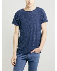 Topman Blue Neppy Roller Fit T-shirt - Lyst